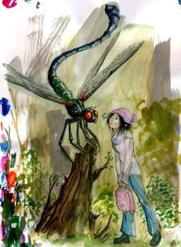 The Girl and the Dragonfly by wflu