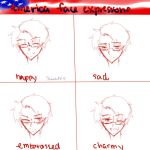 America Face Expression by ShadeTD