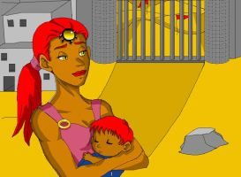 Baby Ganondorf and his mother by Snowflake-owl