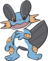 260. Swampert by HappyCrumble