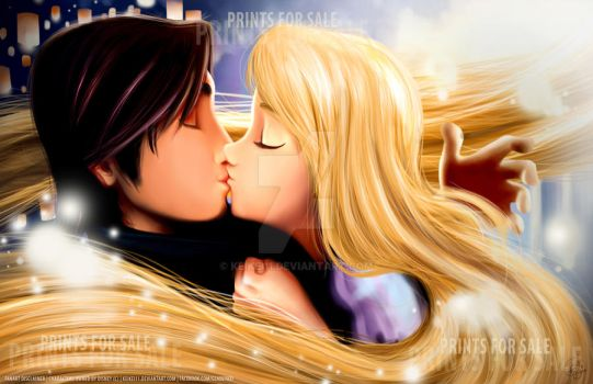 Tangled Kiss by keikei11