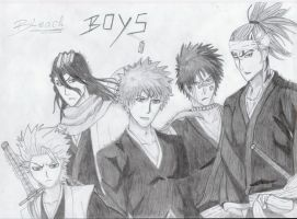Bleach drawings - some boys by mangaslover