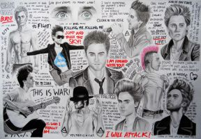 Jared Leto Collage by eeella