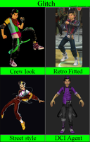 Glitch - all outfits by Kami4427