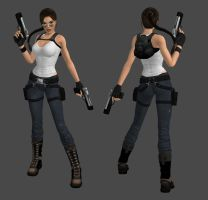 Lara Croft Casual Pants Outfit by spuros12 by spuros12