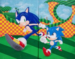 Sonic Generations Mural by Tri-Jean