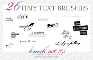 26 Text+Tiny Text Brushes 05 by ennife-resources