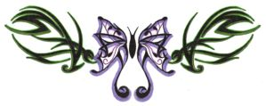 Butterfly Tribal by BaisteachCeilteach