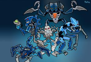 Bionicles Colection Evil by rubtox