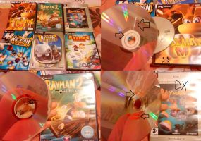 My Rayman games collection by SailorRaybloomDZ