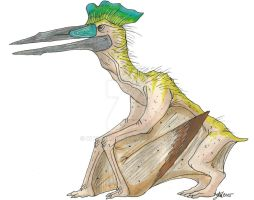 :PaleoProject::  Quetzalcoatlus by Clytemnon