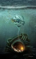 At the bottom on the ocean. by SpringDA