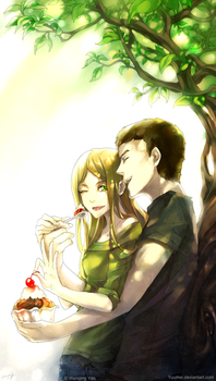 Kyle and Wendy Commission by yuumei