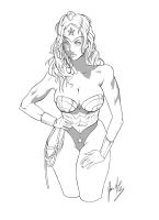 Wonder Woman Lineart by javiermtz