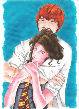 Hermione_Ron...Holding by rollingbug