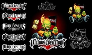 Logo mascot: Vicious Creation by SOSFactory
