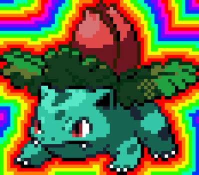 Ivysaur Sprite (Battle) by GamerWolf159