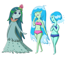 Water Princess and Nymphs by TheCheeseburger