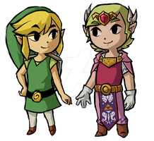 Prince Zelda and the Heroine Link by Decapitated-Kittens