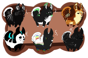 Canine Adoptables -closed - by Naeezadopts