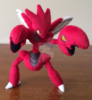 Scizor Pokemon Plush ! 13'' Poseable by GuardianEarthPlush