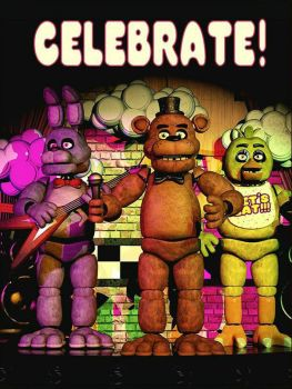 FNaF 1 : Poster by ThunderSolar