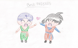 Trunks and Goten - Best Friend by AndroidKitteh