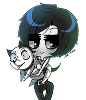 Frankenweenie:  Victor and Sparky! by DIA-TLOA