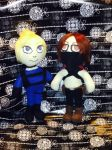 Cassie Cage and Erron Black plushies by NacOfTheStoneAge