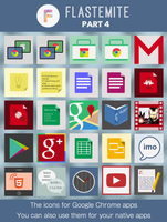 Flastemite - Part 4 - Icons for Google Chrome apps by gusbemacbe