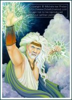 Zeus - GMO Card 32 by ravynnephelan