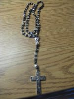 Black Silver Rosary by Umi-No-Tenshi