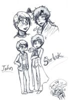 BBC Sherlock and John by BlueRoseFox