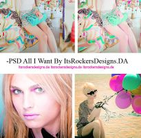 PSD All I Want. by itsrockersdesigns
