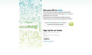 Socialthing Homepage by BlakliteGraphics