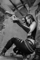 MCC: Punisher's RACHEL COLE-ALVES: no...ther (bw) by MummeryComics