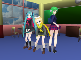 MMD: Highschoolers by Purple-Rage