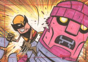 MGB: Wolverine vs. Sentinal by thecheckeredman