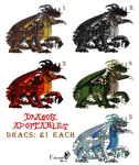 Drac Adoptables - now available by Farumir