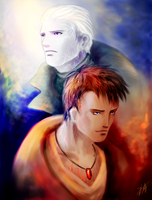 Two Nephilim by Lomendeon