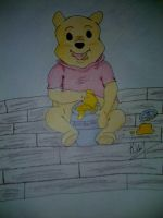 Pooh Bear Commission 2 by KayceeMuffins
