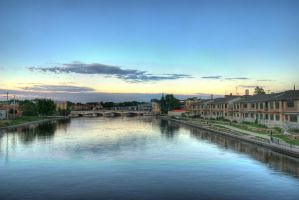 Rock River Fort Atkinson HDR by jazzkidd