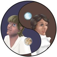 Luke and Leia Yin-Yang by ShrunkenJedi