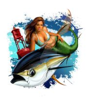 Maermaid and Tuna by russellink