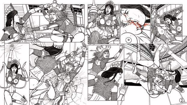 Classical Fighters 4 Page 02 of 03 Lined Version by leandro-sf