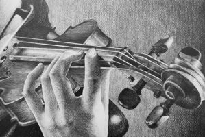Violin Sketch 2 by AlexndraMirica