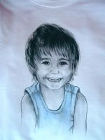 Child portrait on t-shirt by keopsa
