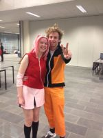 Tsunacon 2013 - Sakura and Naruto by RumBelle