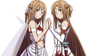 Asuna Two Worlds by ReviatheStarf