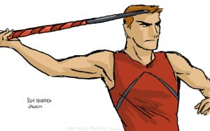 The Javelin Thrower by queensarwa